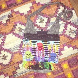 Handbags - Boho hippie skull bag